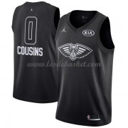 Maillot NBA Pas Cher New Orleans Pelicans DeMarcus Cousins 0# Black 2018 All Star Game Swingman..